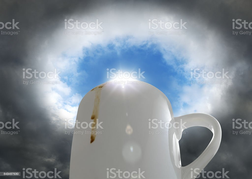 Coffee brightens up your day stock photo