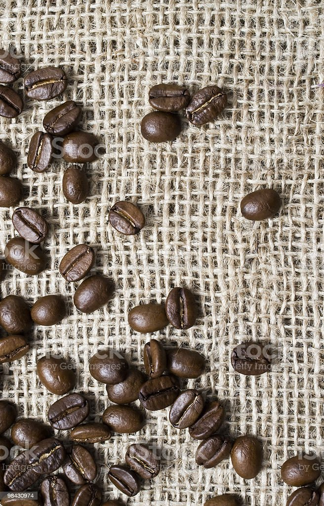 coffee burlap background royalty-free stock photo