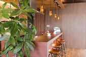 コーヒー カフェのカウンター