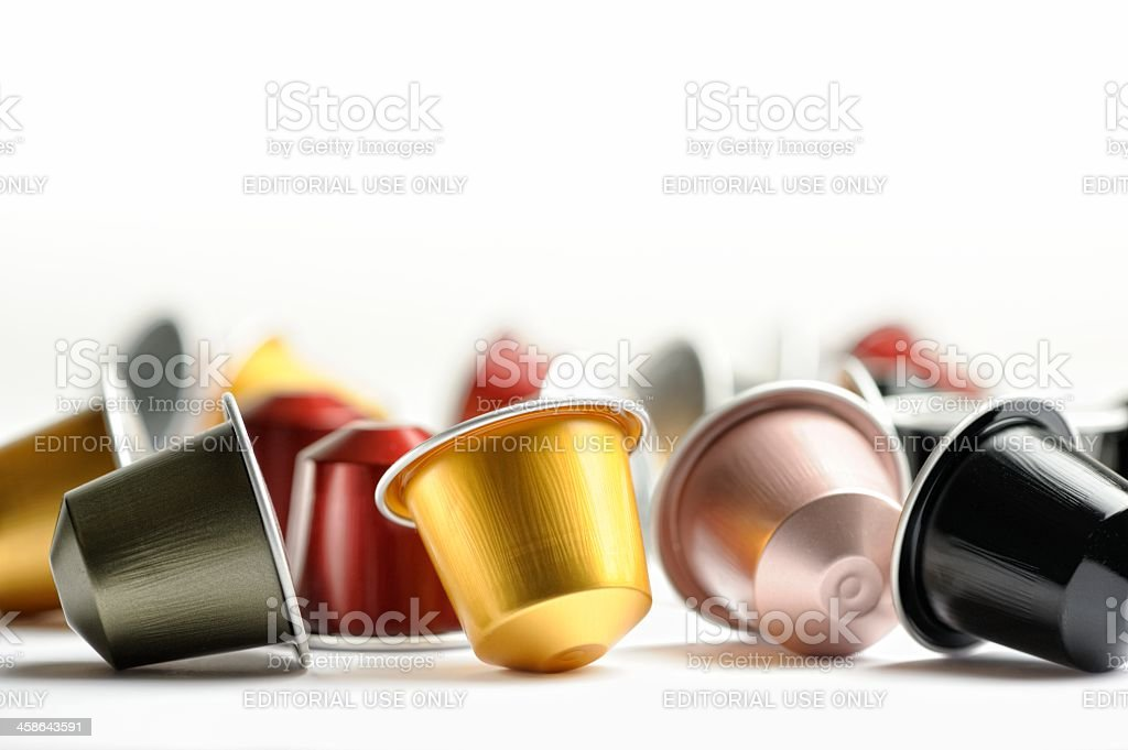 Coffee Capsules for Nespresso Machine stock photo