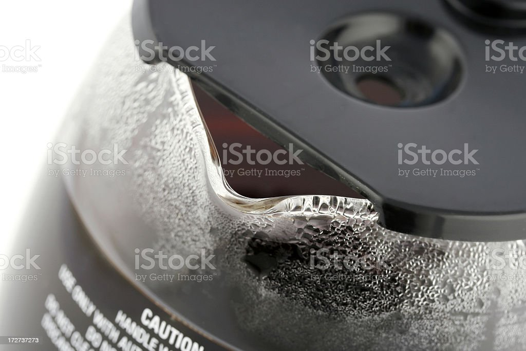 Coffee Carafe Close-Up royalty-free stock photo