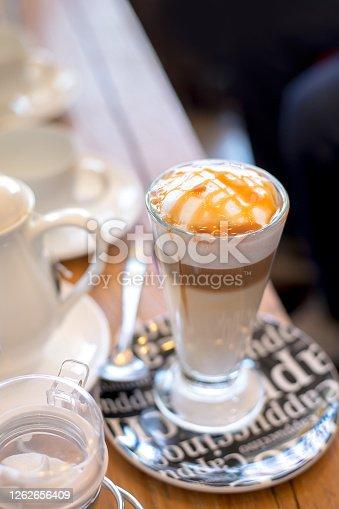 Coffee caramel macchiato