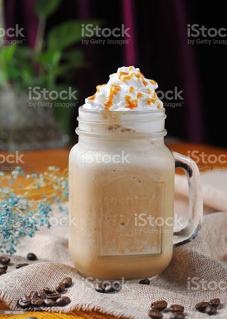 Coffee Caramel milkshake stock photo