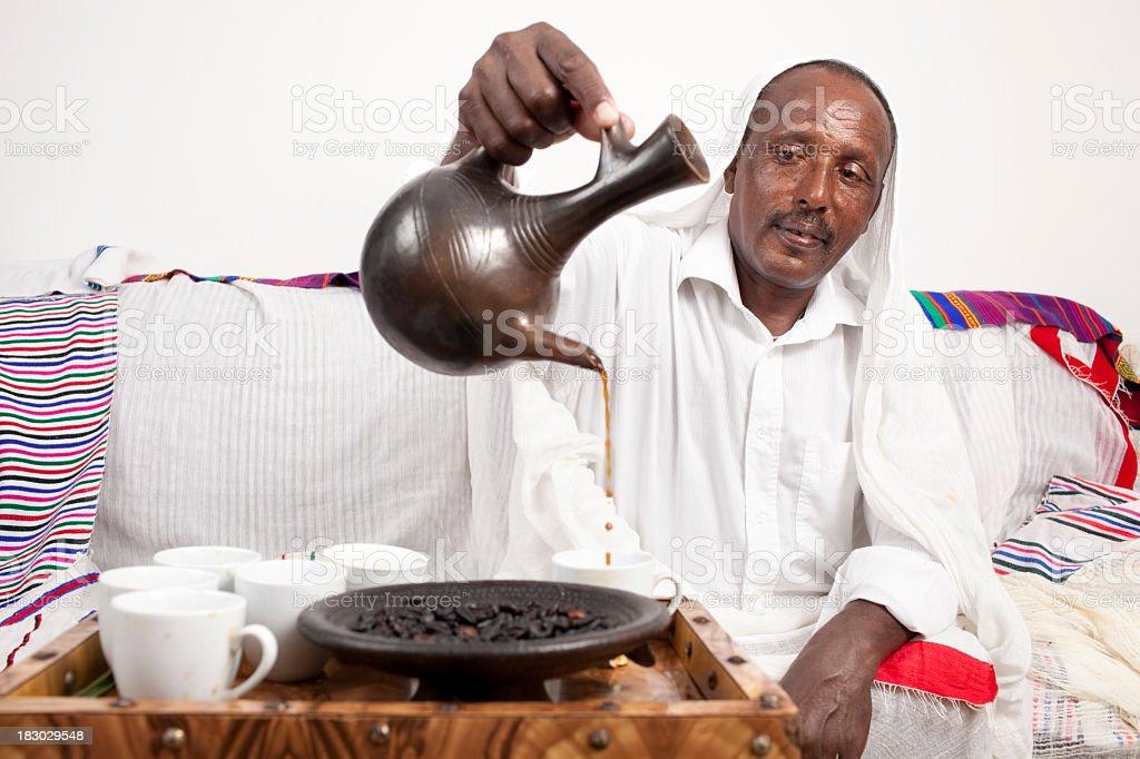 Coffee ceremony. royalty-free stock photo
