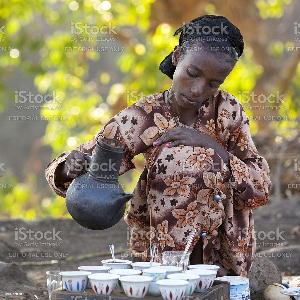 Coffee ceremony. stock photo
