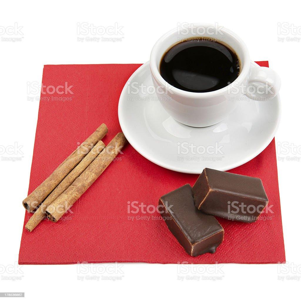 coffee, chocolate and vanilla royalty-free stock photo