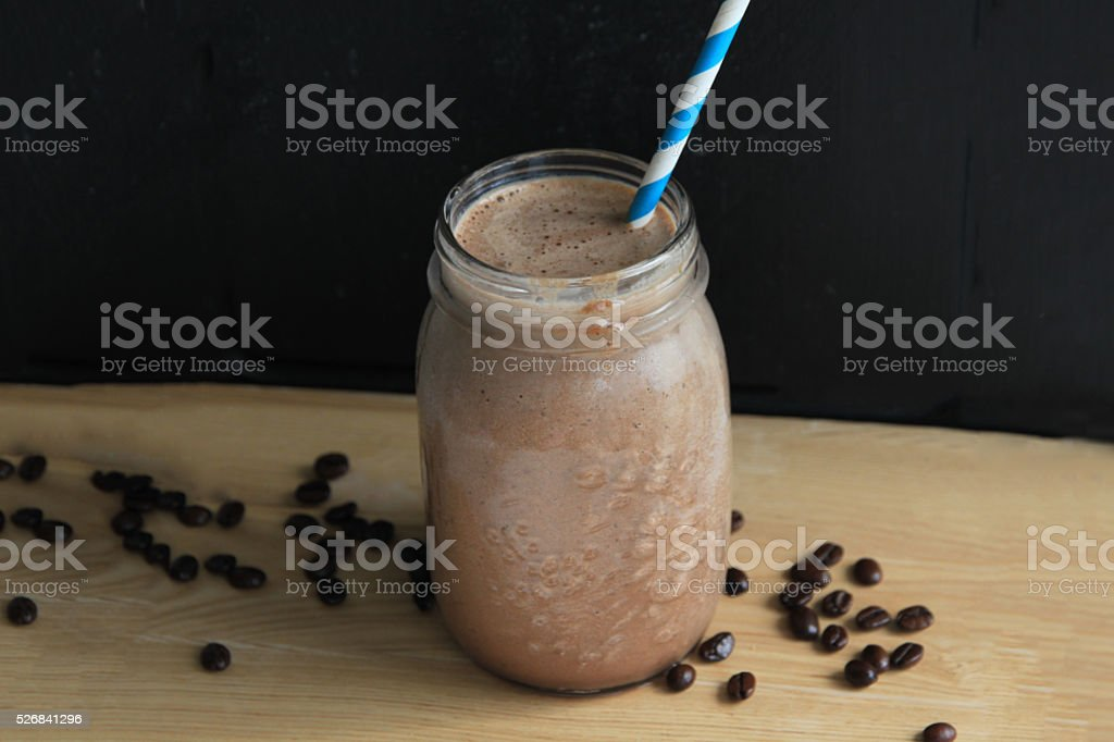 Coffee chocolate smoothie stock photo