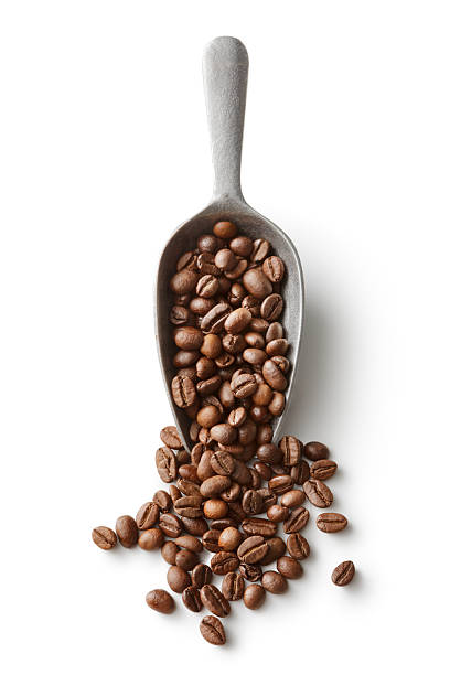 Coffee: Coffee Beans in Scoop Isolated on White Background stock photo