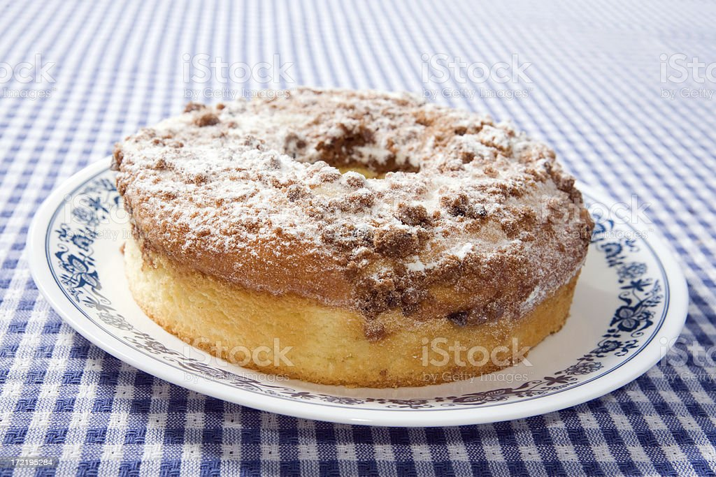 Coffee Crumb Cake royalty-free stock photo