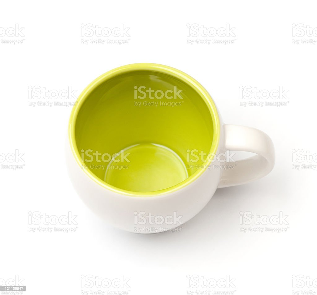 Coffee cup, above view royalty-free stock photo