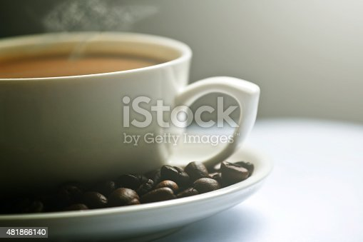 519529874 istock photo Coffee cup and coffee beans 481866140
