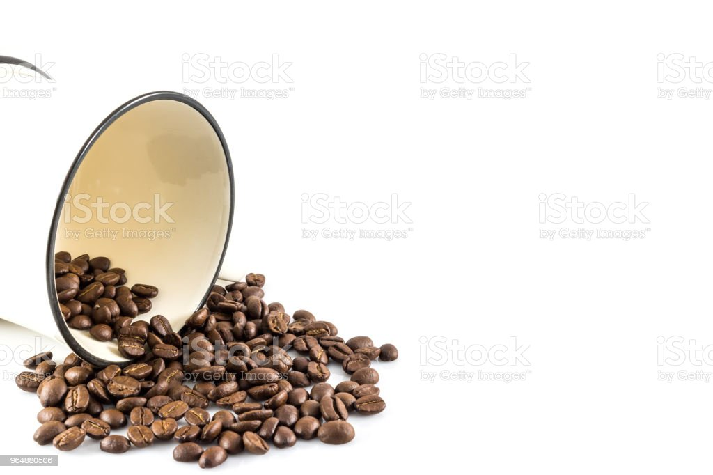 Coffee cup and coffee beans royalty-free stock photo