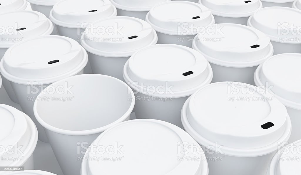coffee cup background on a white background stock photo