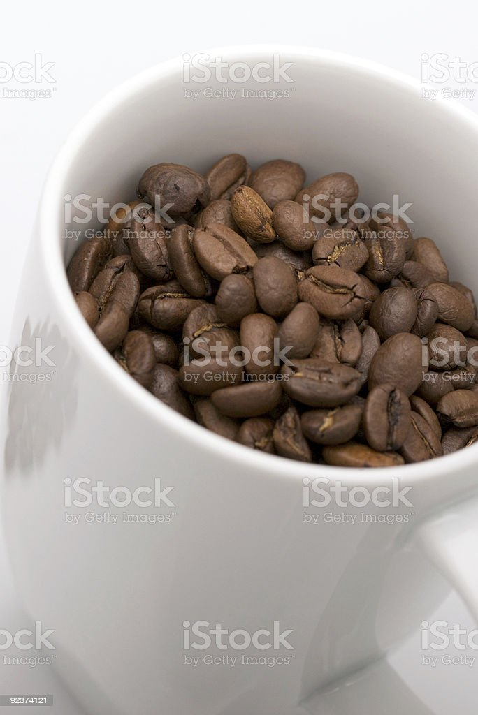 Coffee cup & Beans royalty-free stock photo