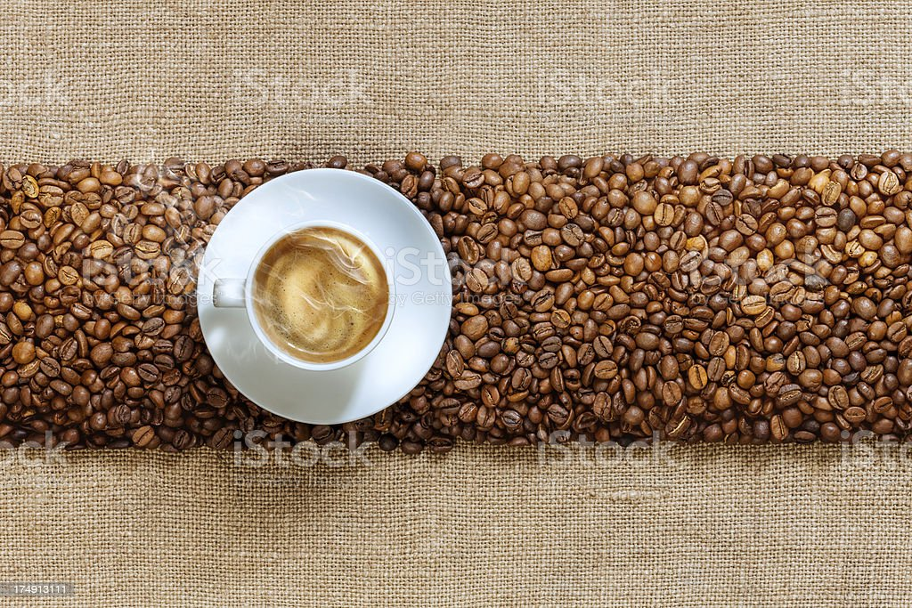 Coffee cup close up. royalty-free stock photo