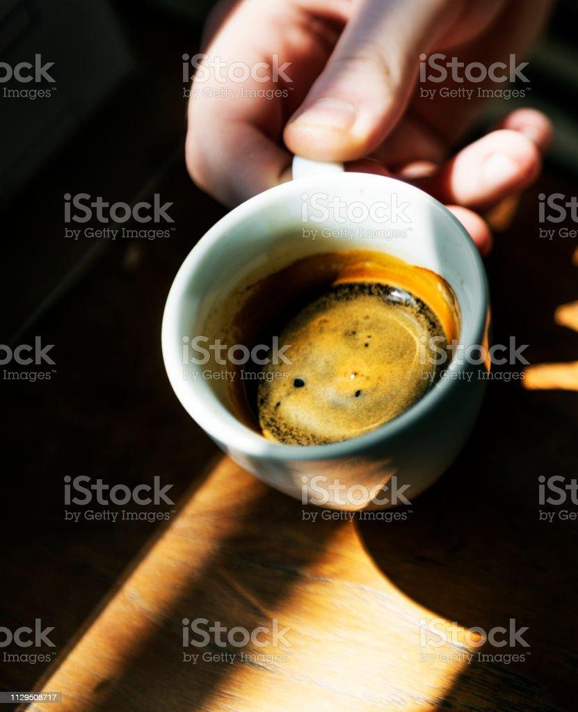 Coffee cup closeup stock photo