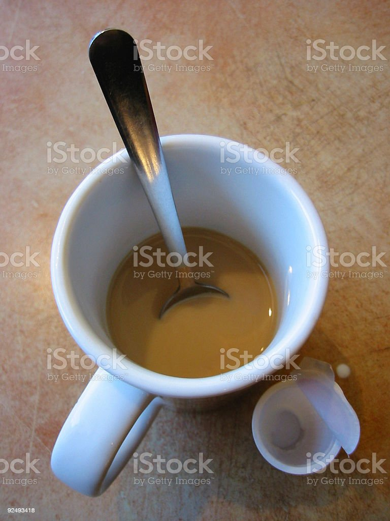 Coffee Cup & Creamer royalty-free stock photo