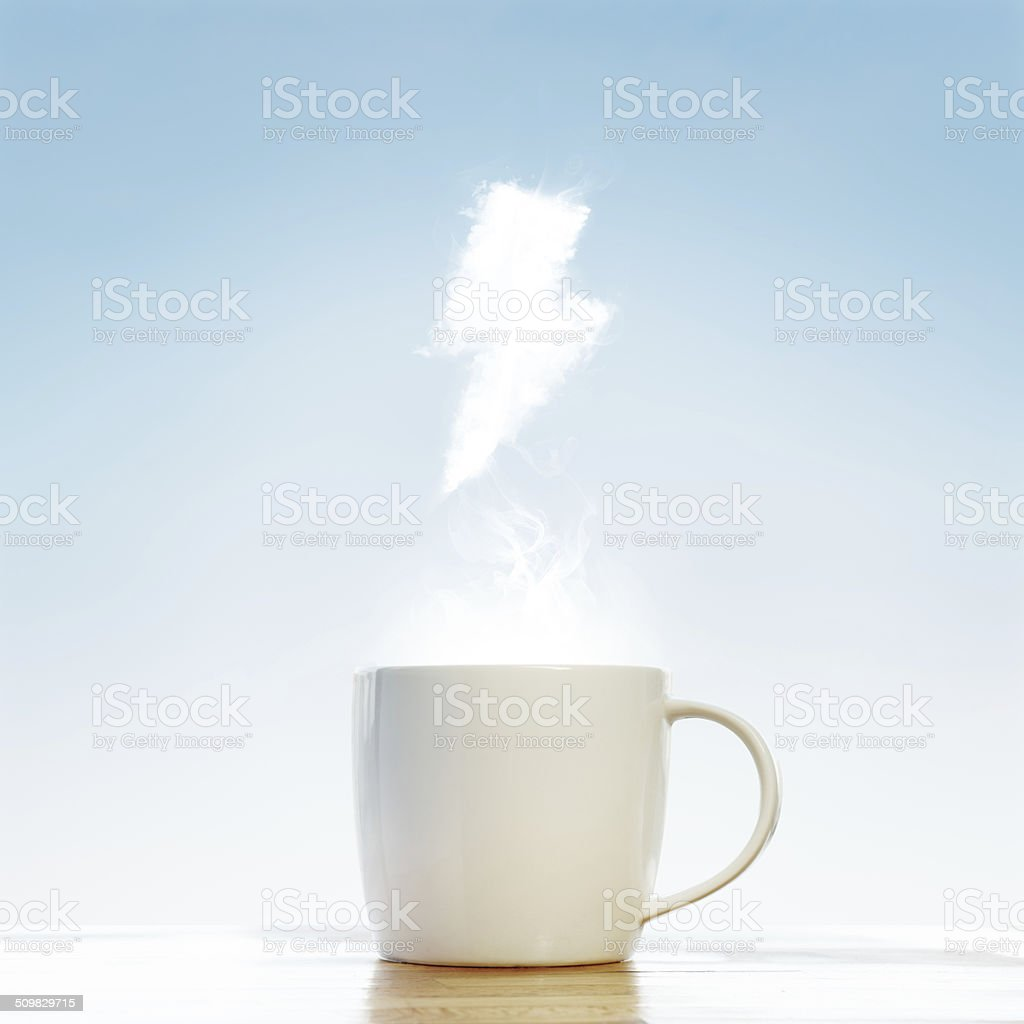 Coffee cup energy concept stock photo