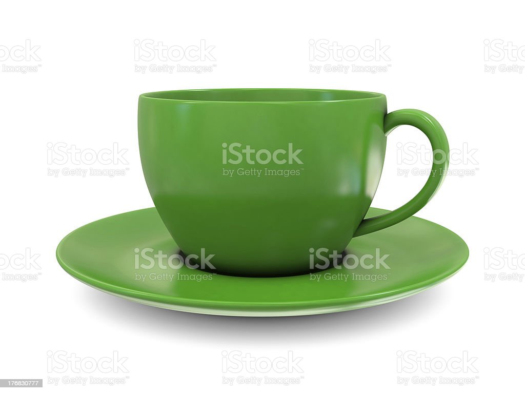 Coffee cup green royalty-free stock photo
