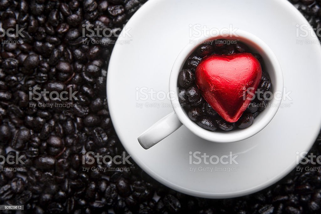 Coffee Cup Heart royalty-free stock photo