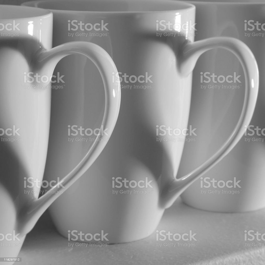Coffee Cup Hearts royalty-free stock photo