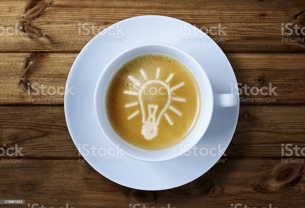 Coffee cup ideas stock photo