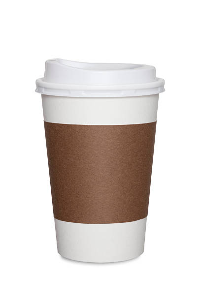coffee cup isolated - paper coffee cup stock photos and pictures