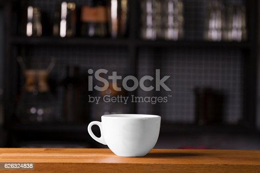 istock Coffee cup mock up template for logo design display 626324838