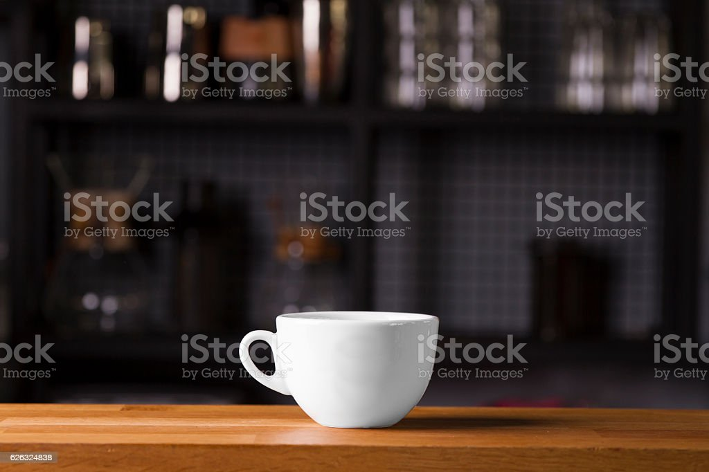 Coffee cup mock up template for logo design display stock photo