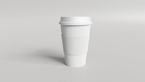 coffee cup mockup 3d render - manica foto e immagini stock