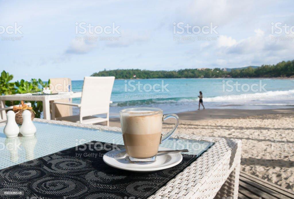 Coffee cup on beautiful  table stock photo