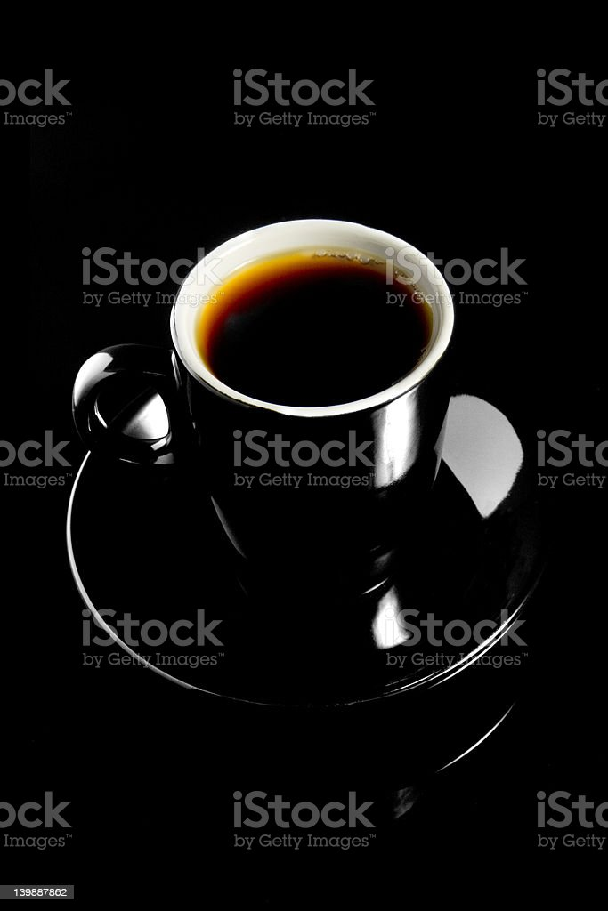 Coffee Cup on Black Background royalty-free stock photo