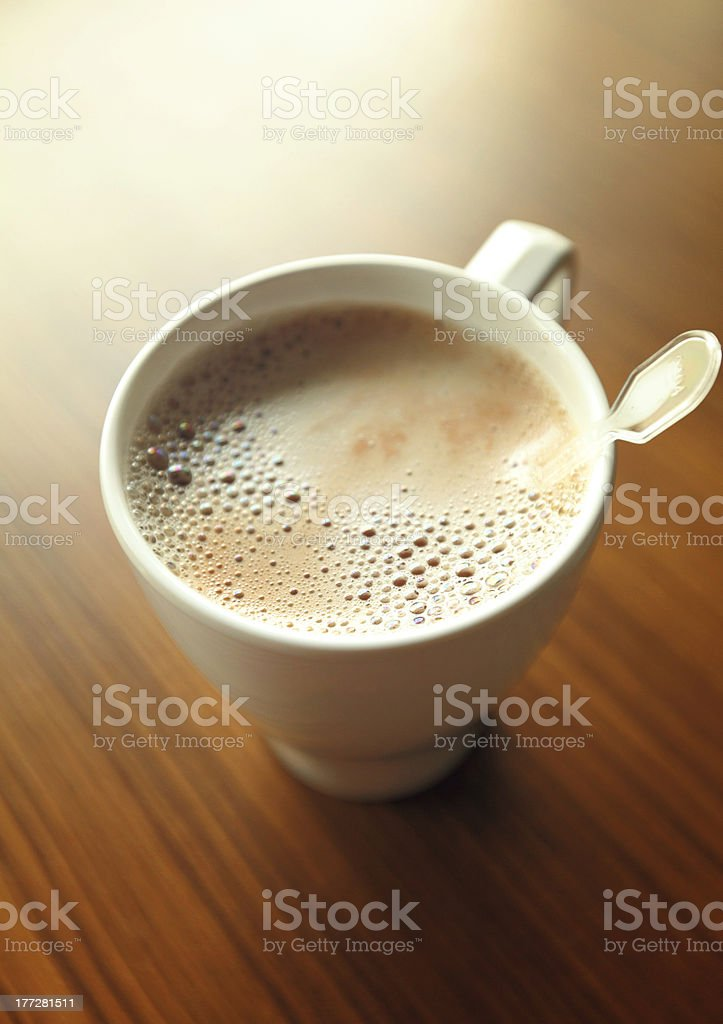 coffee cup on table royalty-free stock photo