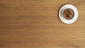 coffee cup on the wooden desk concept