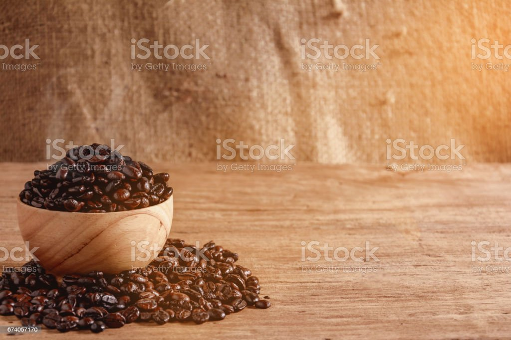 coffee cup on wood table royalty-free stock photo