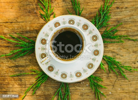 519529874 istock photo coffee cup on wooden table 530813846