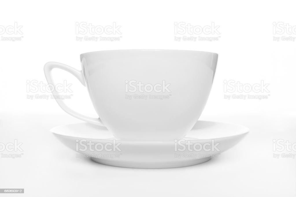 coffee cup over white stock photo