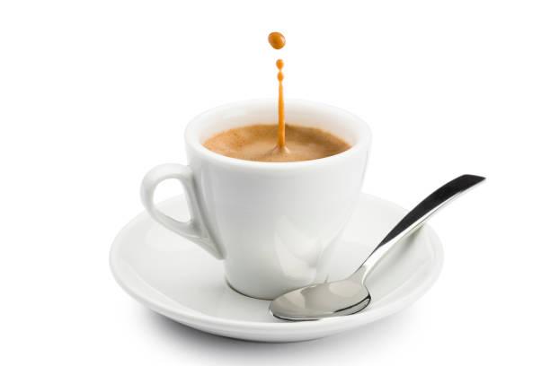 coffee kaffeetasse - espresso stock-fotos und bilder