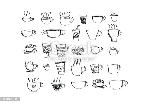 istock Coffee cup set or Tea cups icon collection design 465922251