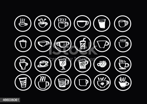 istock Coffee cup set or Tea cups icon collection design 466006061