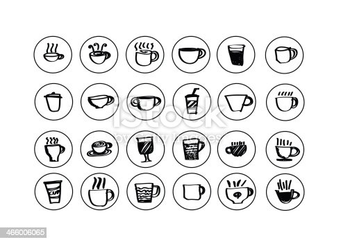 istock Coffee cup set or Tea cups icon collection design 466006065