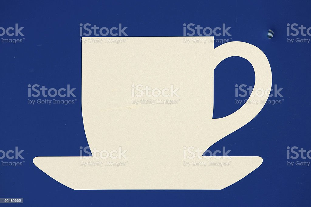 coffee cup sign royalty-free stock photo