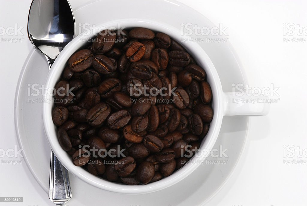 coffee cup spoon 3 royalty-free stock photo