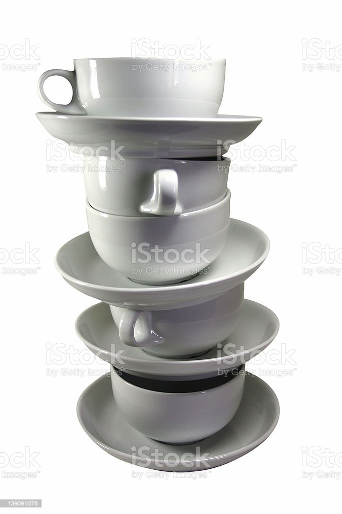 Coffee Cup Stack Isolated royalty-free stock photo
