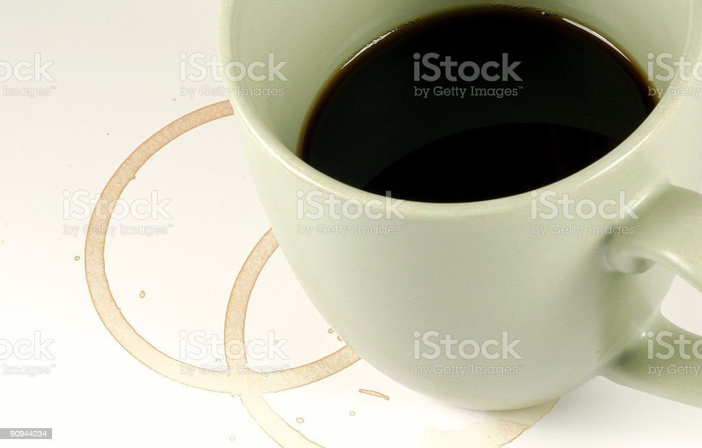 Coffee Cup Stains royalty-free stock photo
