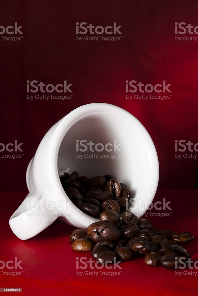 Coffee Cup with Beans royalty-free stock photo