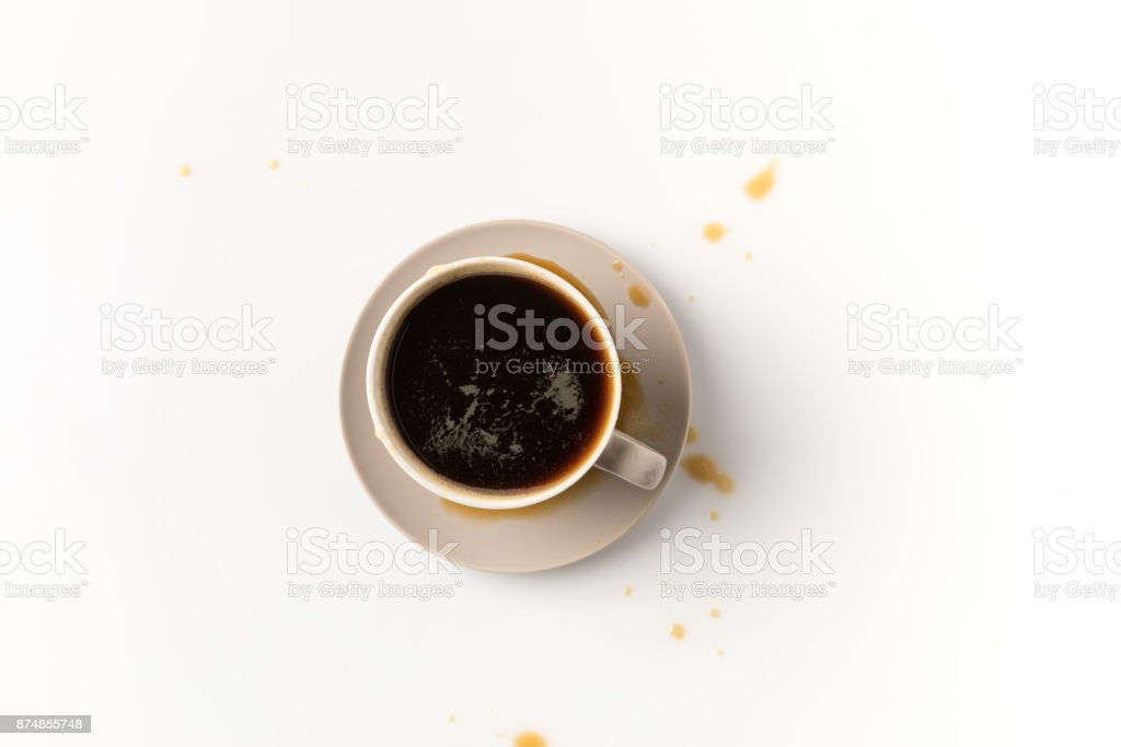 coffee cup with blots stock photo