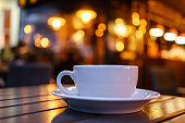 Coffee Cup with Bokeh Background