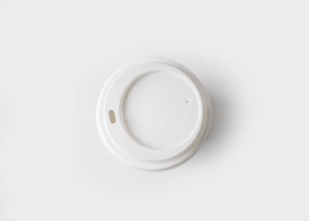 모자와 커피 컵 - 뚜껑 뉴스 사진 이미지