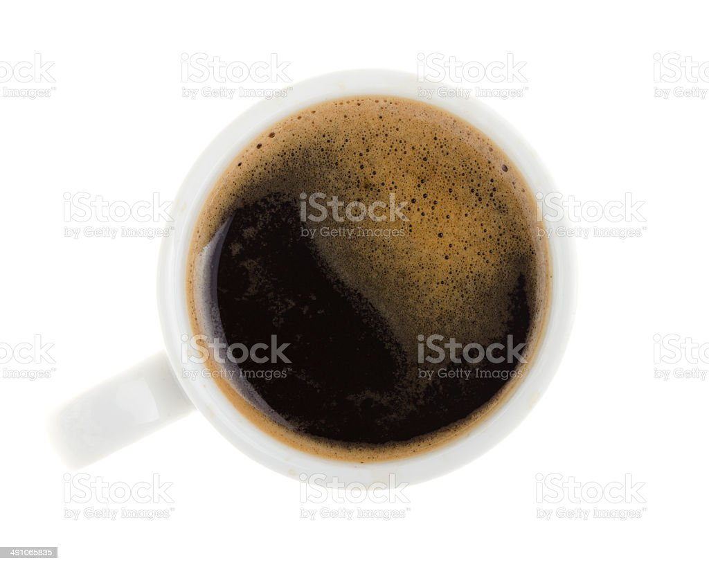 Coffee cup with clipping path stock photo